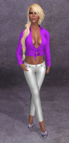 :: Miss Canning :: [ Chloe Knotted Shirt ] and :: Miss Canning :: [ Chrissy Pants ] XS